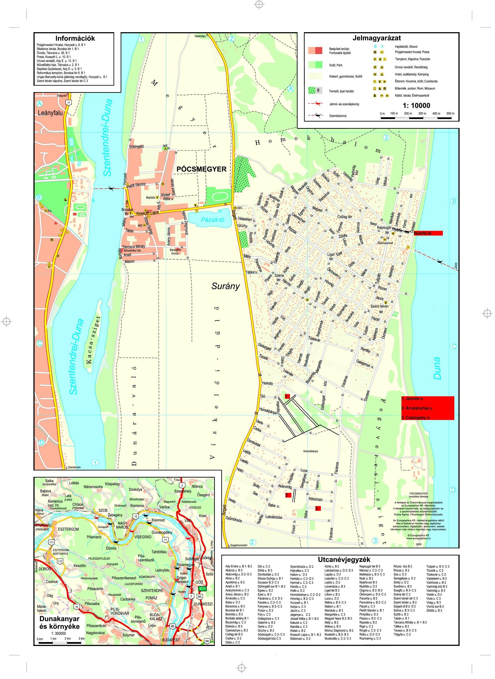 szigetmonostor térkép Térkép | Pócsmegyer Surány szigetmonostor térkép
